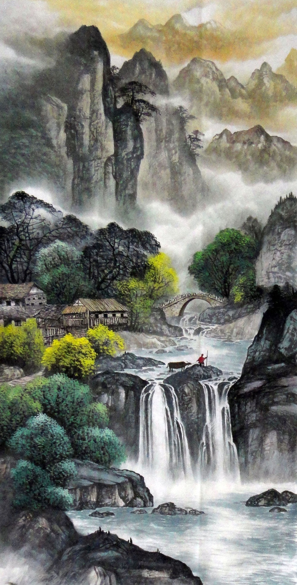 Mountain painting Nature art for sale Traditional Chinese