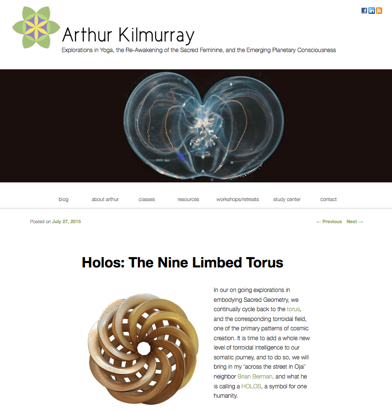 Holos in Arthur Kilmurray's blog