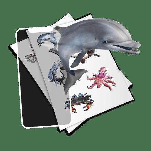 holotoyz-stickers-3d-dauphin-requin-pieuvre-crabe-baleine-tortue