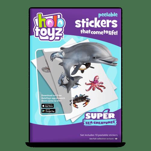 stickers dauphins baleine tortue - stickers qui prend vie holotoyz