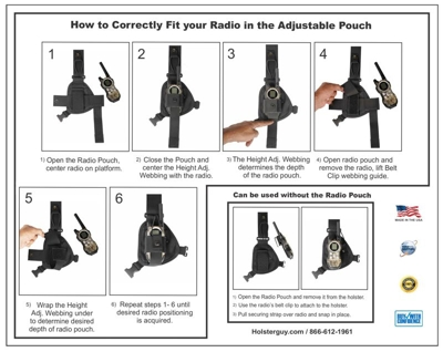 radio chest harness at holsterguy.com RCH-103 holster