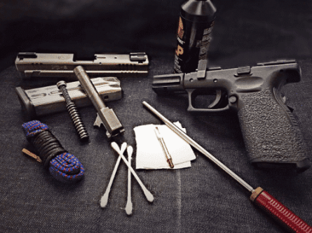 cleaning your firearm safely