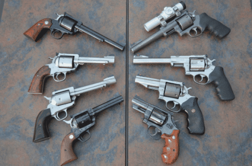 single action and double action revolvers