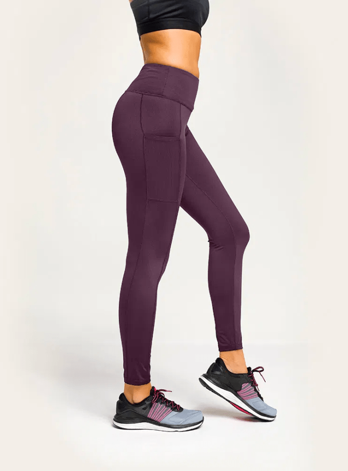 Holt Athleisure high waisted Mulberry leggings