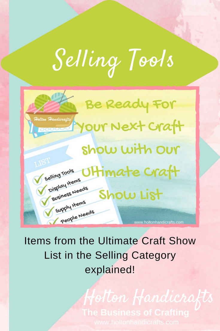 Craft Show List Selling Tools you need to have