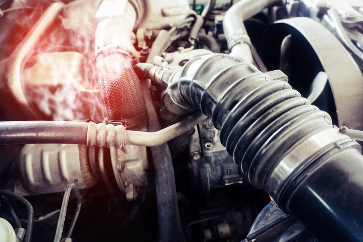 Car Engine Coolant Warning