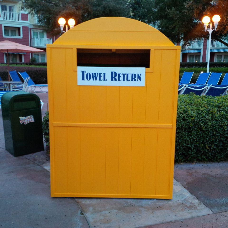 Recycled Plastic Towel Return Bin American Holtzkraft Inc