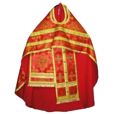 Brocade vestments
