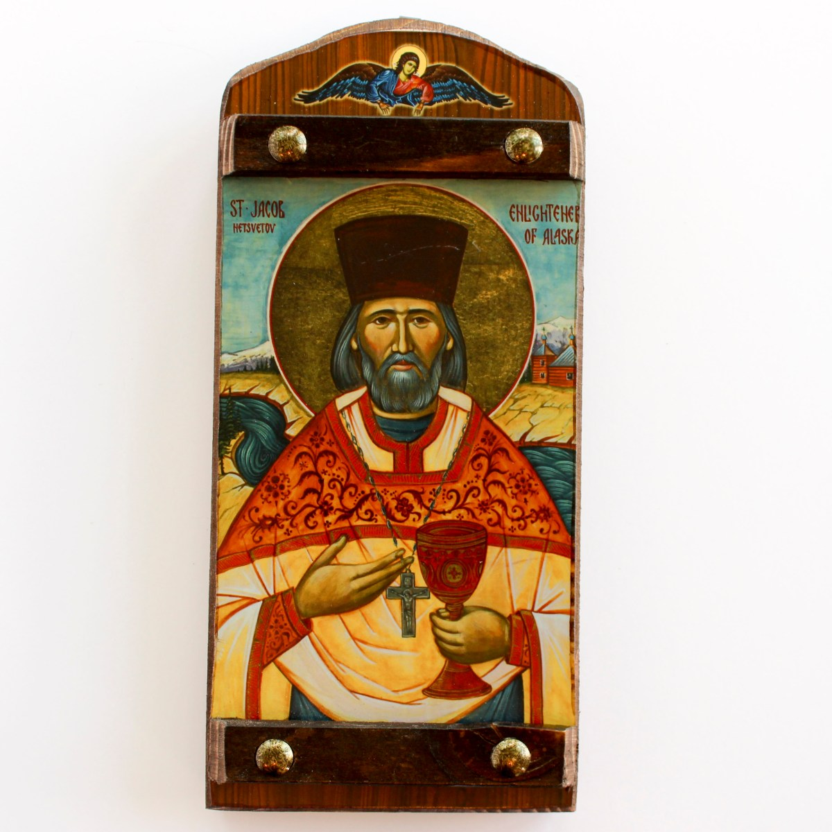 St Jacob Yakov Russian Mission Icon On Wood Plank