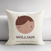 Personalized Kids Faces Pillow Covers | HolyCool.net
