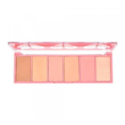 Paleta-face-kit-heart-ruby-rose-tonos-Holy-cosmetics