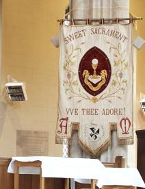 Banner on epistle side