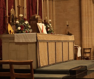 Canon placed on the altar - Copy