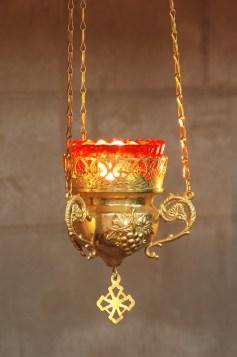 Golden lamp closeup