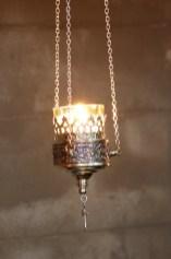 Silver lamp closeup