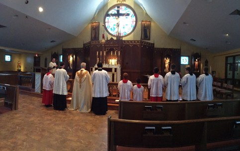 We did the Divine Mercy Chaplet & Consecration to Our Lady before Benediction of the Blessed Sacrament