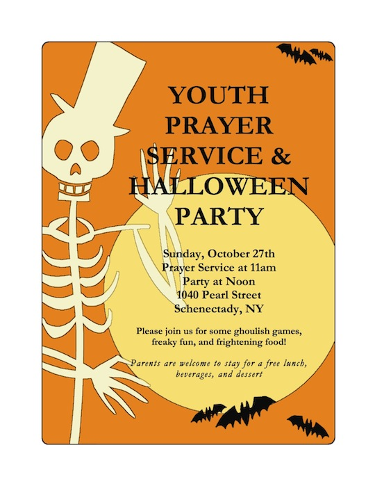 Halloween party flyer 2013