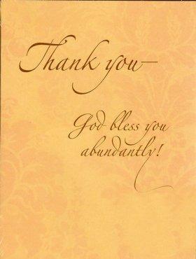 Thank You God Bless You Abundantly