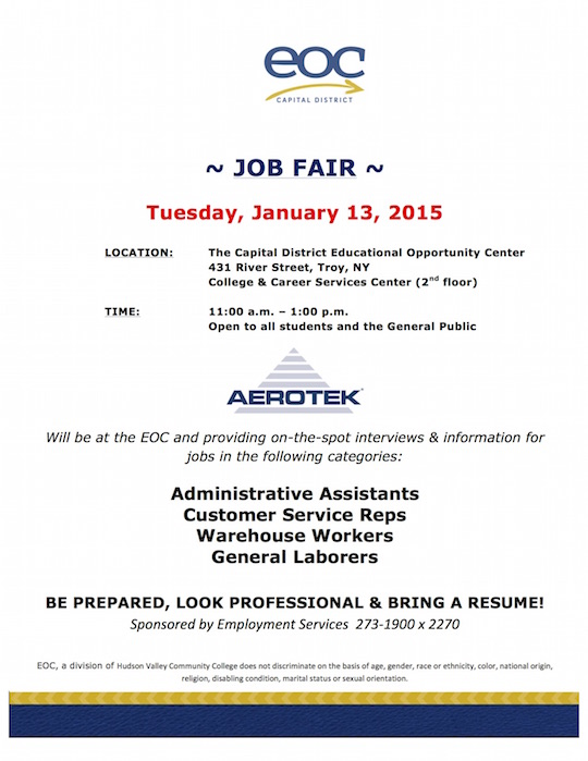 Mini Job Fair  Flyer Jan 13 2015 Areotek