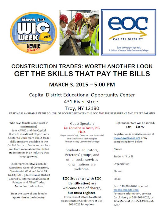 Women in Construction Event – Holy Name of Jesus