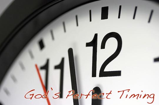 Just before deadline - time, stress, rush, faith.