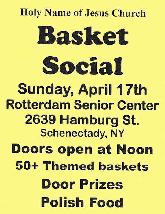 2016 Basket Social April 17