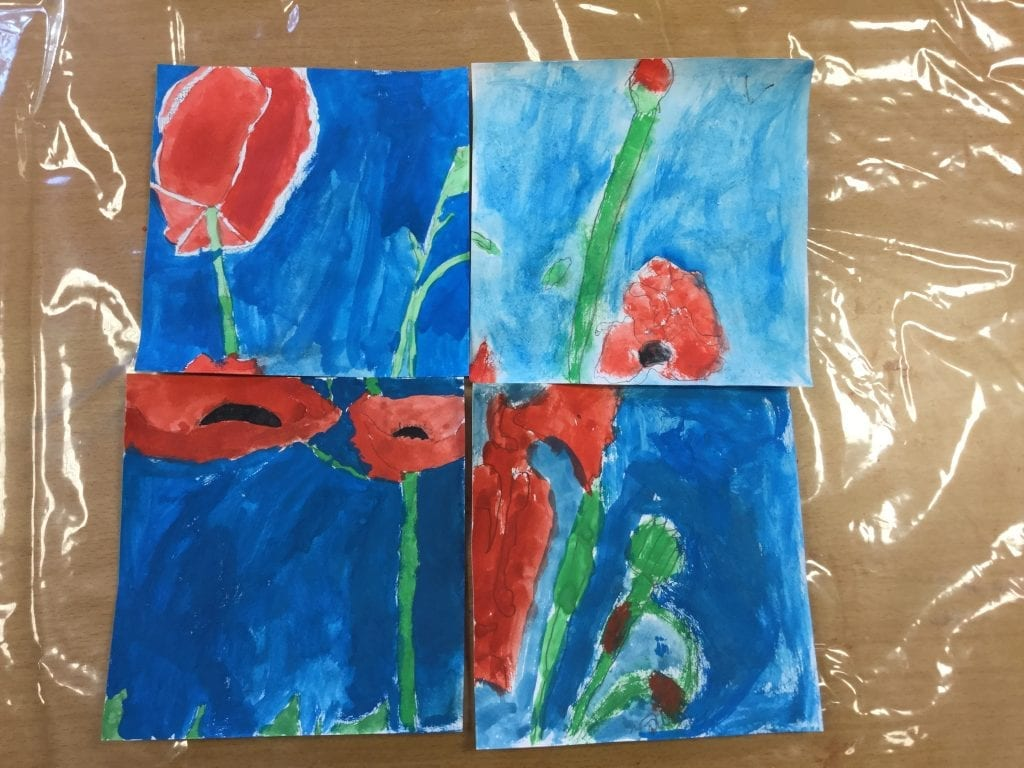 Water Colour Poppies (1)