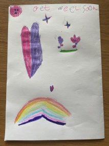 Finley sent Miss Taylor a beautiful card!