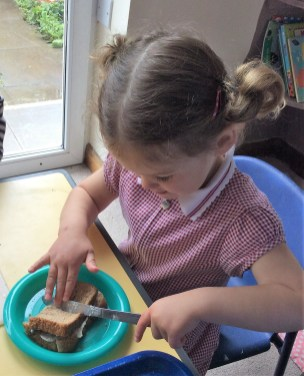 making sandwiches 2