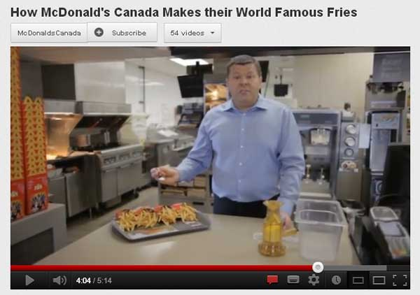 Youtube McDonalds Fries