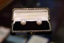 PR photos of two of the biggest freshwater pearls ever produced in Scotland