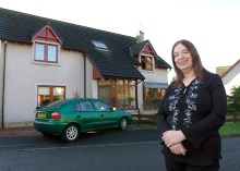 Property PR photo of author Alison Weir, selling her Scottish property