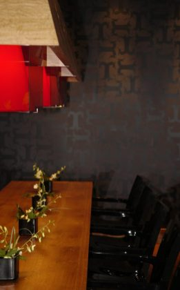 Bar and restaurant PR photography for Tigerlily in Edinburgh showing distinctive seating in the bar and restaurant section