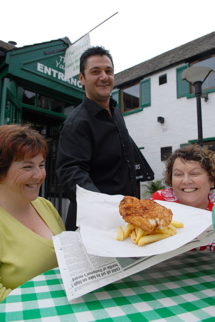 Food and Drink PR photography exterior serving The Yard Leith by Holyrood PR Edinburgh