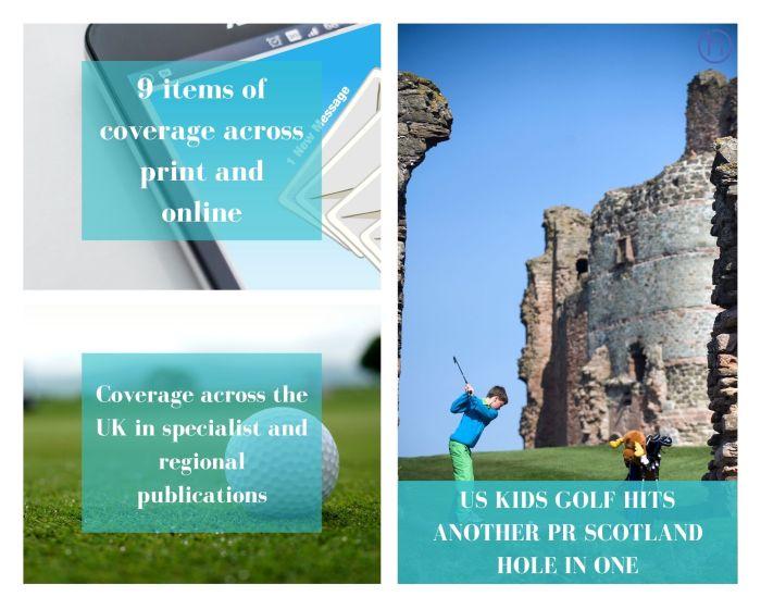 PR in Scotland U.S Kids Golf European Championship success graphic