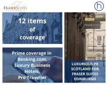 Fraser Suites Hotel PR photography success post graphic