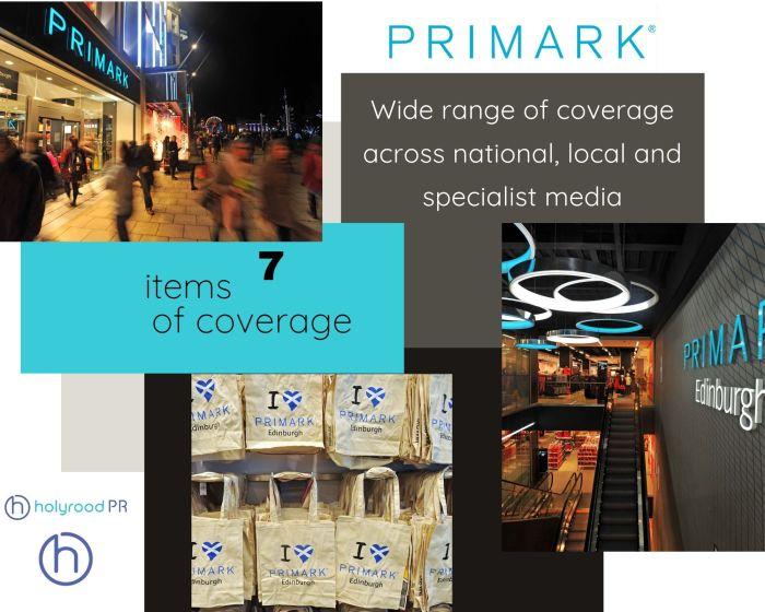 Scottish PR photography Primark Edinburgh store opening success post graphic