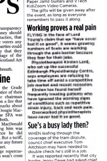 Evening News physio coverage
