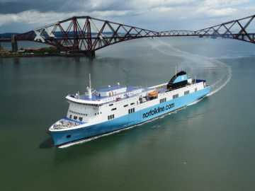 Scottish PR photography Scottish Viking ship doing whiskey tour by DFDS Norfolkline