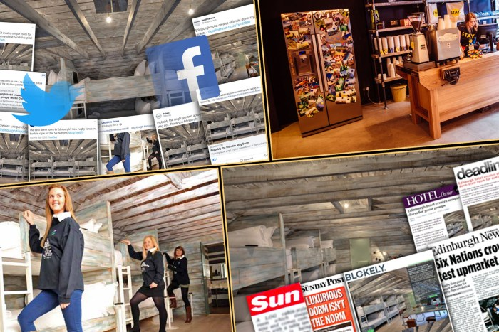 Media montage showing the coverage achieved by Edinburgh PR agency, holyrood PR for hotel PR client, Stay Central