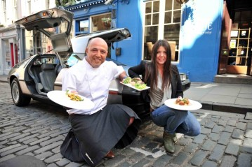 PR photo call Helps Edinburgh Restaurant