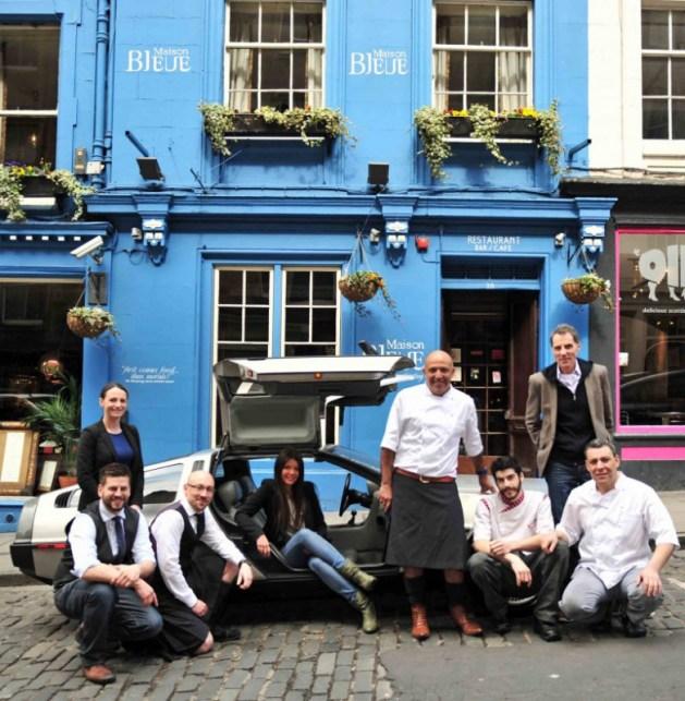 PR photo call Helps Edinburgh Restaurant