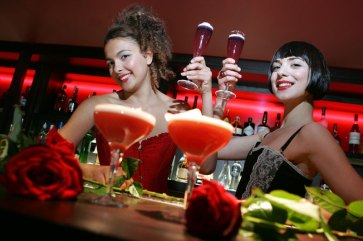 Hotel PR photograph of tantalising cocktails at Lulu's glamour launch located underneath Tigerlily, Edinburgh