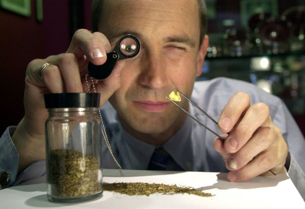 PR photography for Edinburgh jeweller and his rare Scottish gold