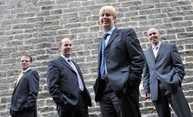 Space Solutions is Scotland's leading, independent workplace planner, with an expert team of architects, interior designers and removal experts helping businesses manage change in the workplace. The company's four directors, (L-R) Derek Binnie, Steve Judge, Mark Wilson and Kenny Cope. The four led a successful management buy out of the firm in July 2007, enjoying record performance since.