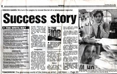 1988: First Job at Edinburgh Evening News