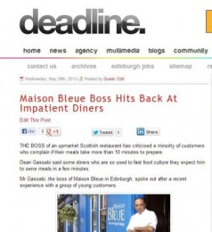 Maison Bleue on Deadline News site