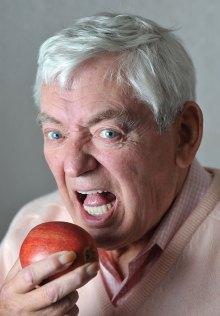 Dental PR photos of happy implant patient