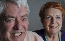 Dental PR photos of happy implant patient