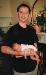 2002 - Proud new dad